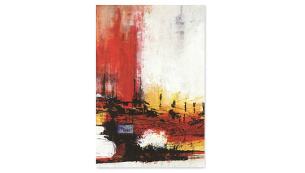 "Crimson Industry Canvas Art - 72"" x 48"""