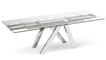 Cruz Extension Dining Table - Clear