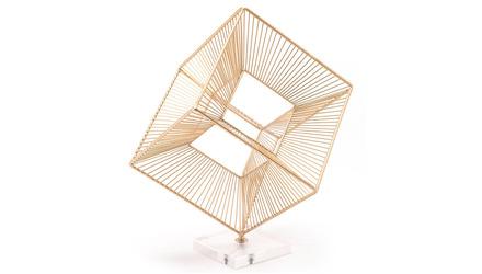 Cuadrado Figurine Paperweight Gold