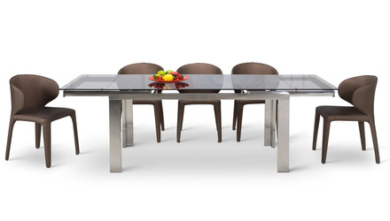 Enzo Dining Table Set - 6 Chairs