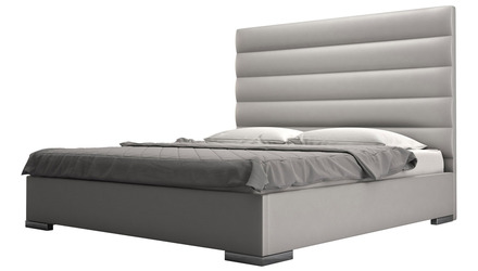 Reina Bed - Pearl Gray