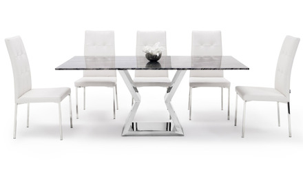 Grigio Dining Set - 6 Chairs