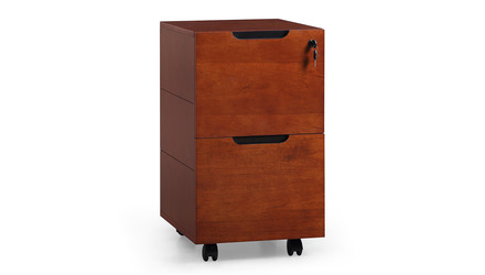 Hayes Mobile Filing Pedestal - Light Walnut