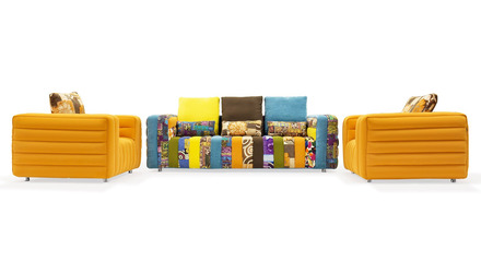 Lotto Sofa Set with 2 Armchairs
