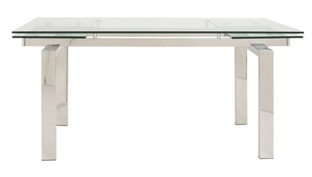 Luciana 94 Inch Extension Table - Polished Stainless