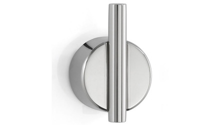 Duo Wall Hook V1 Polished Stainless Steel Adhesive