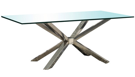 Cointet 75 Inch Dining Table - Clear Glass