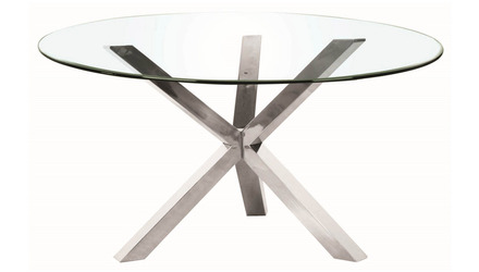 Cointet 72 Inch Round Dining Table - Clear Glass