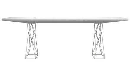 Donatella Dining Table - White Lacquer on White Paint