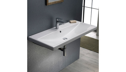 Elite Rectangle Ceramic 32 Inch Sink