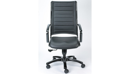 Europa Metallic Leather High Back Swivel Chair
