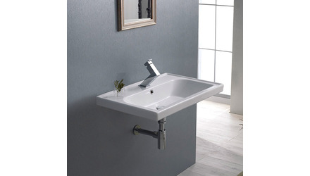 Frame Rectangle Ceramic 24 Inch Sink