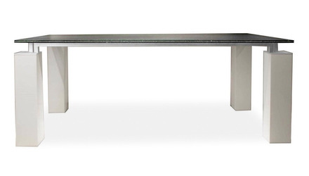 Joie 75 Inch Dining Table - White