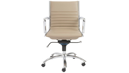 Kinsey Low Back Office Chair - Chrome Base