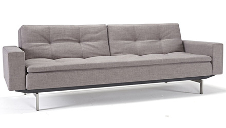 Metroplex Sofabed with Armrests - Stainless Steel Legs