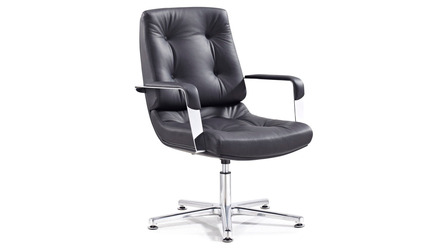 Perot Leather Guest Chair