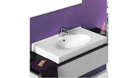 Rita Rectangle Ceramic 32 Inch Sink