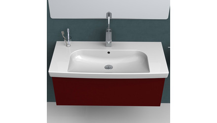 Roma Rectangle Ceramic 37 Inch Sink