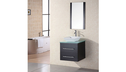 "Taylor 24"" Single Sink Glass Vanity Set"