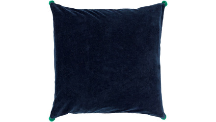 Velvet Poms Throw Pillow with Down Insert