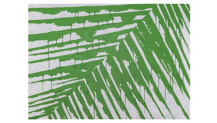 """Offshoot Canvas Art in Green - 42"""" x 58"""""""