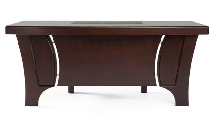 Quincy Desk with Return - Dark Walnut