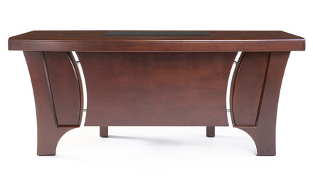 Quincy Desk with Return - Light Walnut