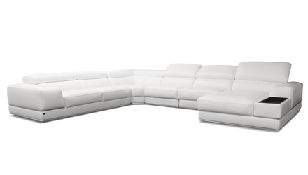 Wynn Sectional - White, Right Chaise