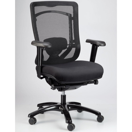 Monterey Mesh Back Swivel Chair with Fabric Seat
