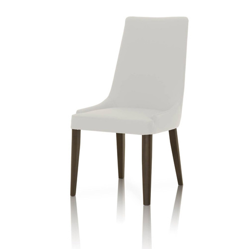 Padron Top Grain Leather Dining Chair - Set of 2 - White